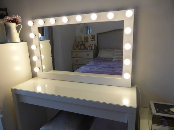 Chende LM8065 32 x 26 inch Large Hollywood Style Vanity Makeup Mirror with Lights Tabletop