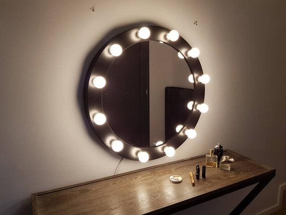 Large Hollywood Mirror With Lights Vanity Mirror Round Etsy