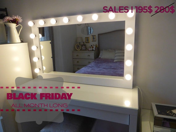 On Sale Xl Hollywood Vanity Mirror 43x27 Makeup Etsy