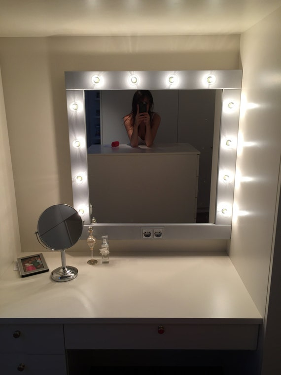 exceptional Etsy Vanity Mirror Part - 8: Make up Mirror with lights Vanity mirror in many colors   Etsy