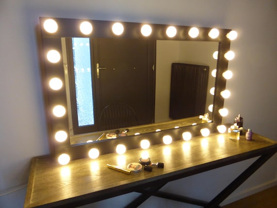 Xl Hollywood Mirror 43x27 Handmade Etsy