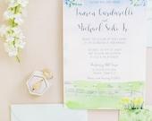 Connecticut Wedding - Custom Wedding Invitations - Invitation Suite - Watercolor Invites - Farm Wedding - Barberry Hill Farm Wedding