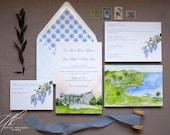 Ireland Wedding - Custom Ireland Wedding Invitations - Watercolor Wedding Suite - Ballymaloe House - County Cork Invites - Wisteria Invites