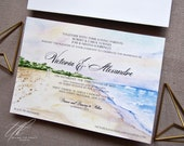 Beach Wedding Invitations - Gurney's Inn Wedding - Montauk Wedding - Watercolor Invitations - Custom Wedding Invitations