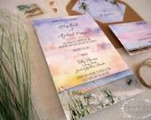 Custom Wedding Invitation Suite - Beach Wedding - Watercolor Invite - St. Augustine Wedding - Villa Blanca - Florida Wedding Invitations