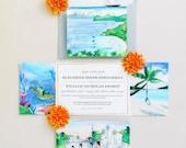 St John Wedding - St John USVI Invitations - Destination Wedding Invitation Suite - Island Wedding Invitations