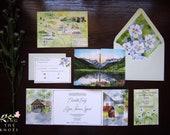 Custom Vail Colorado Invitations - Gatefold Invite - Sonnenalp Colorado Invitation Suite - Gatefold Wedding Invitations