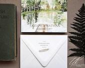 Custom Wedding Invitations - Oregon Wedding - Outdoor Wedding invitations - Forest Wedding Invite - Custom Save the Dates