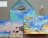 Wedding Invitation Suite - Custom Wedding Map - Greek Wedding - Greece Wedding - Envelope Liners - Destination Wedding Invitations