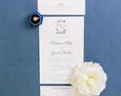 Texas Wedding Camp Lucy - Custom Wedding Invitations - Invitation Suite - Watercolor Invites  - Floral Wedding - Custom Wedding Crest