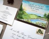 Ventana Inn - Big Sur Wedding - Big Sur Invitations - Formal Wedding Suite - Redwood Wedding Invitations - Ocean Wedding