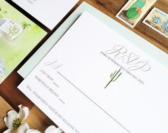 San Jose Del Cabo Wedding - Acre Baja Wedding Invitations - Watercolor Wedding Suite - Cactus Invitation Suite