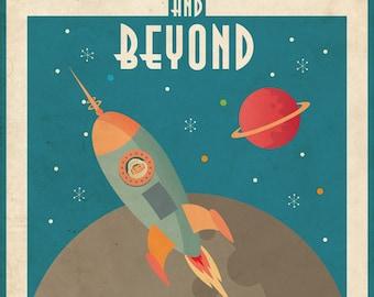 retro astronaut posters - 340×270
