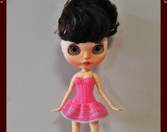 Dress for Blythe dolls with articulated body & Pullip