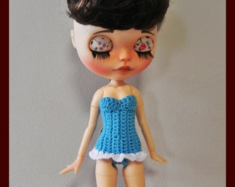 Swimwear for Pullip and Blythe with jointed body