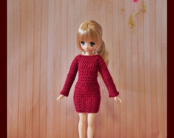 Dress for dolls Ruruko & Azone Pure neemo xs