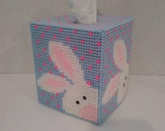 Peek a Boo Bunny Easter Tissue Box Cover