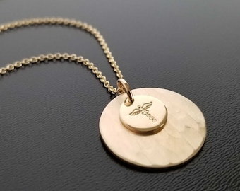 Gold Filled Medical Alert Necklace, Personalized Medical ID Jewelry for Every Day, Better Quality Emergency Identification for Women