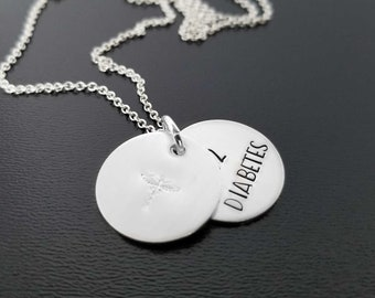 Sterling Silver Personalized Medical Alert Necklace, Upscale Medical ID Jewelry for Every Day, Emergency Identification for Women, Diabetes