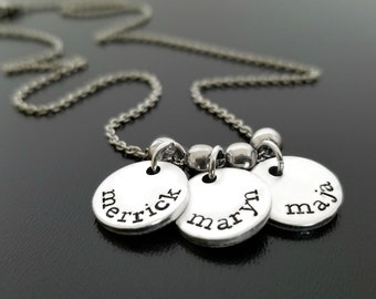 Necklace with Kids Names, Personalized Jewelry for Mother Mom Grandmother