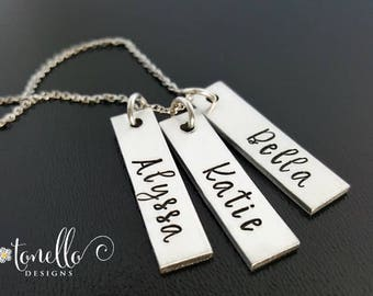 Kids Names Necklace, Necklace with Kids Names, Mom Necklace, Personalized Necklace, Grandmother Necklace, Grandchildren Names