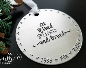 Memorial Ornament Mom, Loss of Mother Sympathy Gift for Remembrance