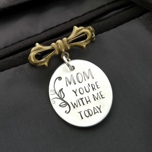 Remembrance Keepsake for Him Lapel Pin Boutonniere Charm Memorial Wedding Gift for Groom Loss of Father