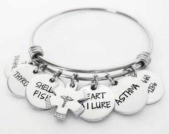 Personalized Medical ID Alert Bracelet Women, Emergency Identification Bracelet