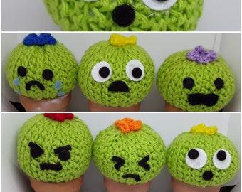 Crochet Mini Cactus For Every Emotion in terra cotta pot
