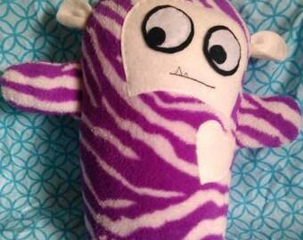 Brenda the purple zebra monster