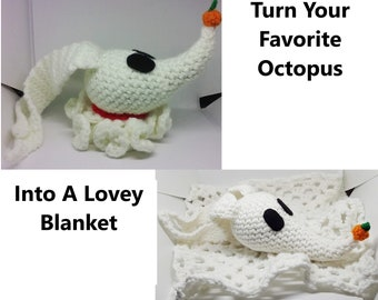 Turn Your Favorite Crochet Octopus Into A Lovey Blanket Add On