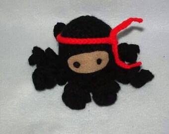 Collin the Crochet Ninja Octopus