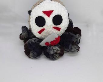Jason the killer octopus crochet amigurumi plush