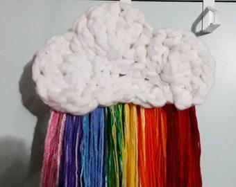 Crochet Cloud Wall Hanging