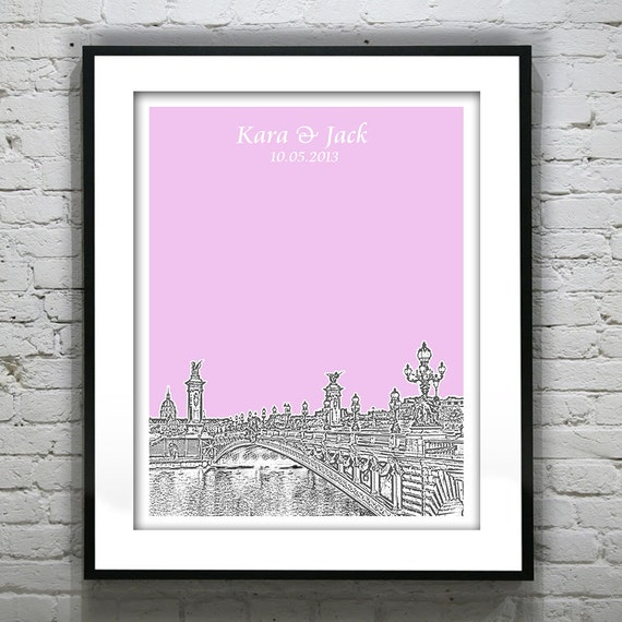 Paris France Wedding Guest Book Guestbook Poster Print City Etsy