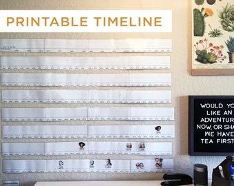 Printable Timeline, History Timeline, Wall Timeline, Book of Centuries, Timeline Notebook, Digital Timeline, Homeschool Timeline, Schoolroom