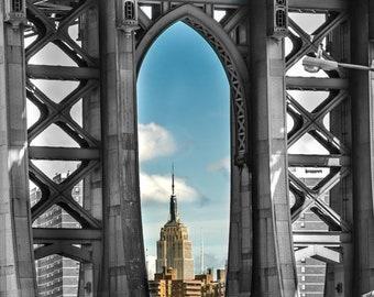 349d430d Dumbo brooklyn New York City photo, brooklyn wall art cityscape, brooklyn  prints NYC, office art, manhattan bridge, urban photos