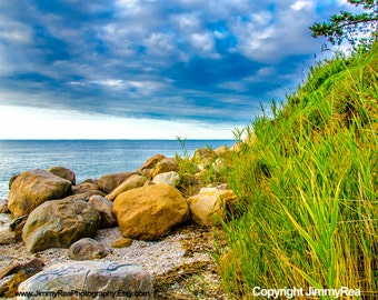 Coastal art wall decor Ocean photograph, office art print , seascape photograph, beach house photo, beach pictures, green blue landscape