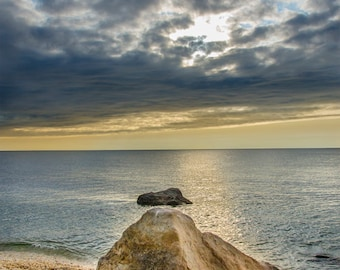 Coastal art wall decor, Ocean photograph, office art print, stormy beach, seascape photograph,beach house photo, beach pictures, rocky shore