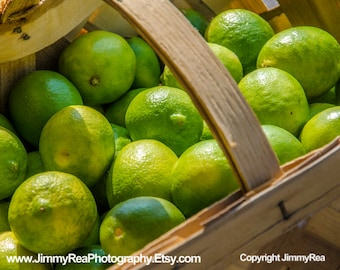 Food art green limes food picture kitchen wall decor art, office photos, restaurant photography, cafe prints