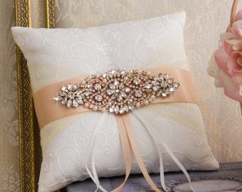 Rose Gold Ring Bearer Pillow Rose Gold Ring Pillow Blush Pillow Wedding Ring Pillow Rose Gold Wedding Blush Wedding Pillow Blush Ring Bearer