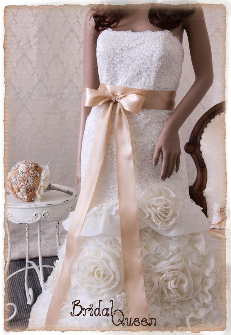 Sashes for Wedding Dresses Ivory
