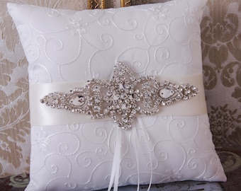 Wedding Ring Pillow, Wedding Ring Bearer Pillow, Wedding Pillow, Ring Bearer, Ring Cusion