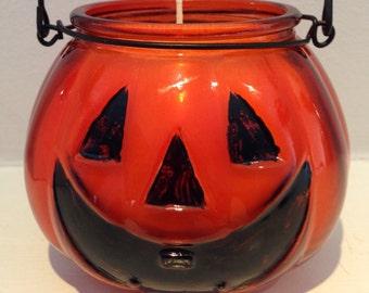 Jack-o-Lantern Candle- Halloween Candle - Soy Wax/Paraffin Wax - Pumpkin Spice Candle - Pumpkin Candle - 12 oz Candle