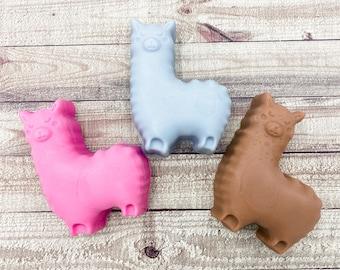 Alpaca Soap / Llama Soap / Kawaii Soap / 3 oz Soap / Goat Milk Soap / Party Favor