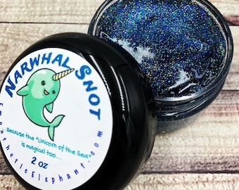 GALAXY Narwhal Snot - Glitter Body Gel - Narwhalicorn - Unicorn of the Sea Snot - Body Glitter Gel - 2 oz - Party Favor - Beauty Make-Up