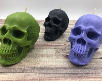 Skull Candle / Halloween Candle / Horror Candle / Oddities Candle