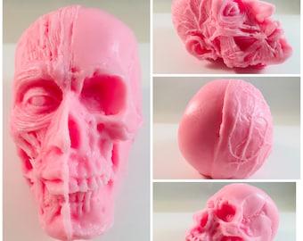 Anatomical Man Soap / Skull Soap / Halloween Party Favor / Halloween Soap / Skeleton Soap / 5 oz Soap / Horror Soap / Oddity / Creepy Soap