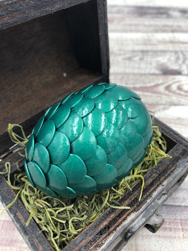 Dragon Egg with Box  Dragon Egg with Chest  Dragon Egg Decor image 0