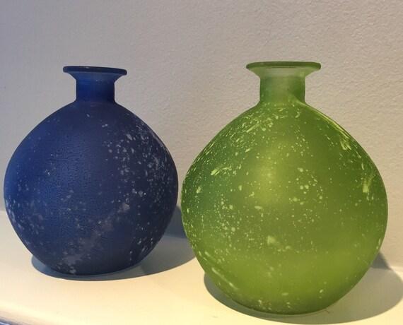 Beach Glass Vase Sea Glass Vase Beach Decor Sea Glass Etsy